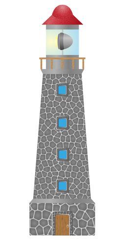 antiguo faro construido en ilustración vectorial de stonel