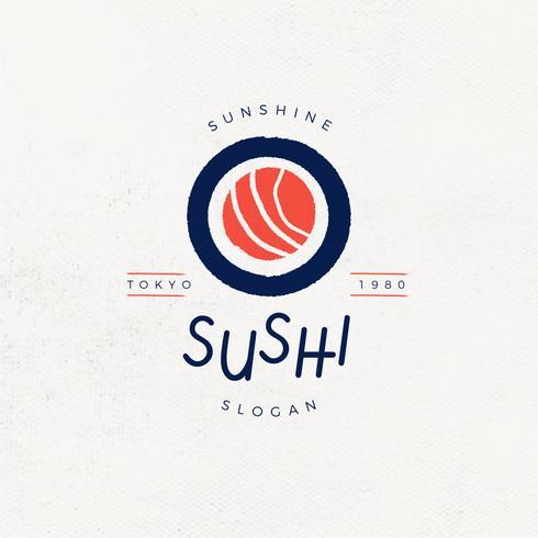 vettore di logo di sushi