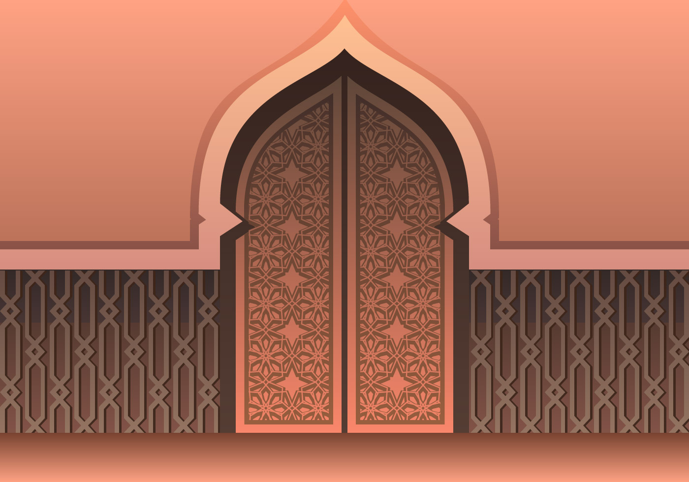 Cool Mosque Door Free Vector Art 15 Free Downloads Door Handles Collection Olytizonderlifede
