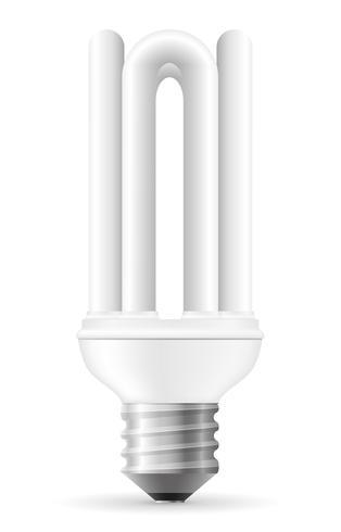 Ilustración de vector de bombilla de ahorro de energía