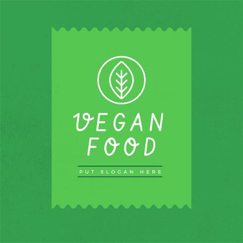 Vector logo vegano
