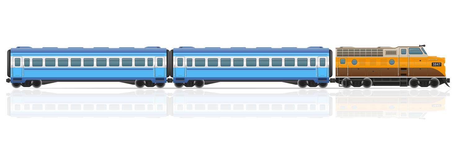 tren ferroviario con locomotora y vagones vector ilustración