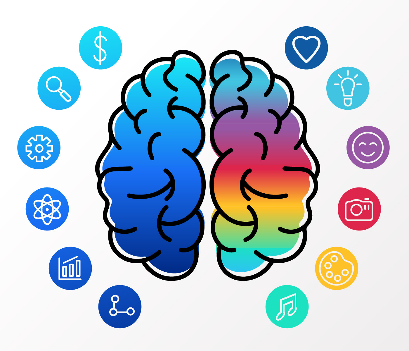 Human Brain Hemispheres Vector 542082 - Download Free ...