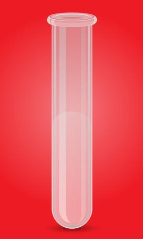 glass test tube vector illustration