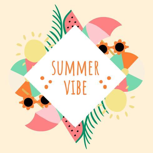 Cool Summer Background Illustration vector