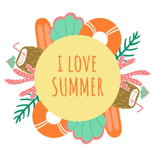 Cute Summer Background  vector
