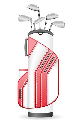 bolsa de palos de golf vector illustration