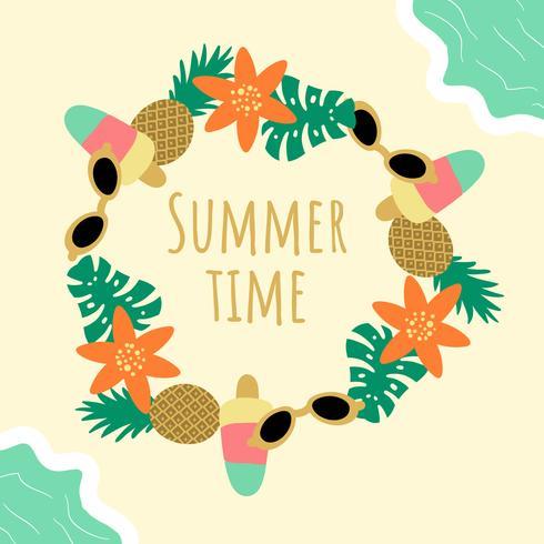 Cute Summer Background Vector