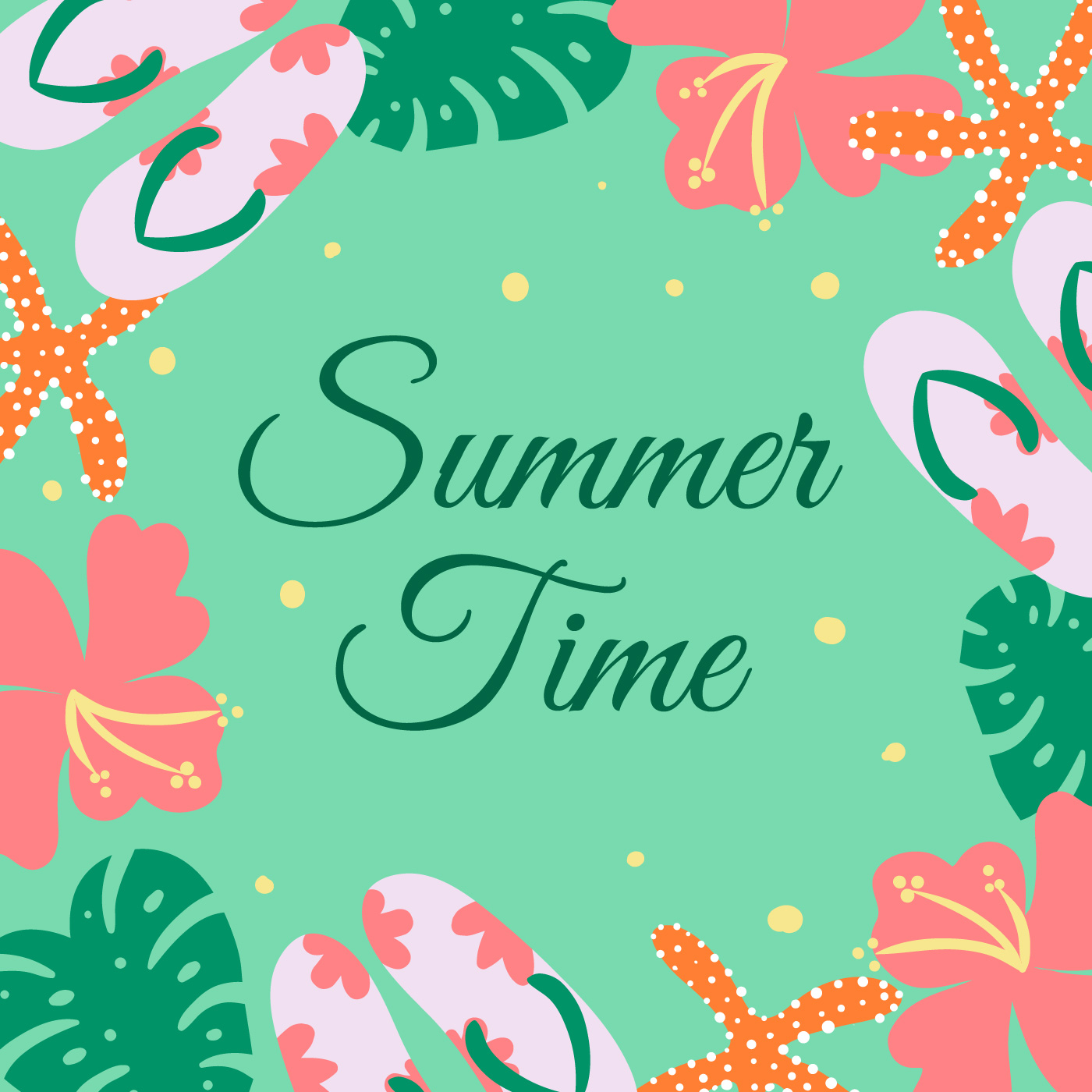 Cute Summer Background Vector 542155 - Download Free ...