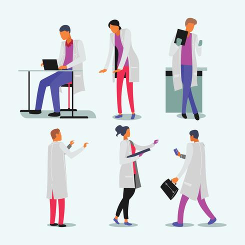 Group of medical people healthcare characters standing together