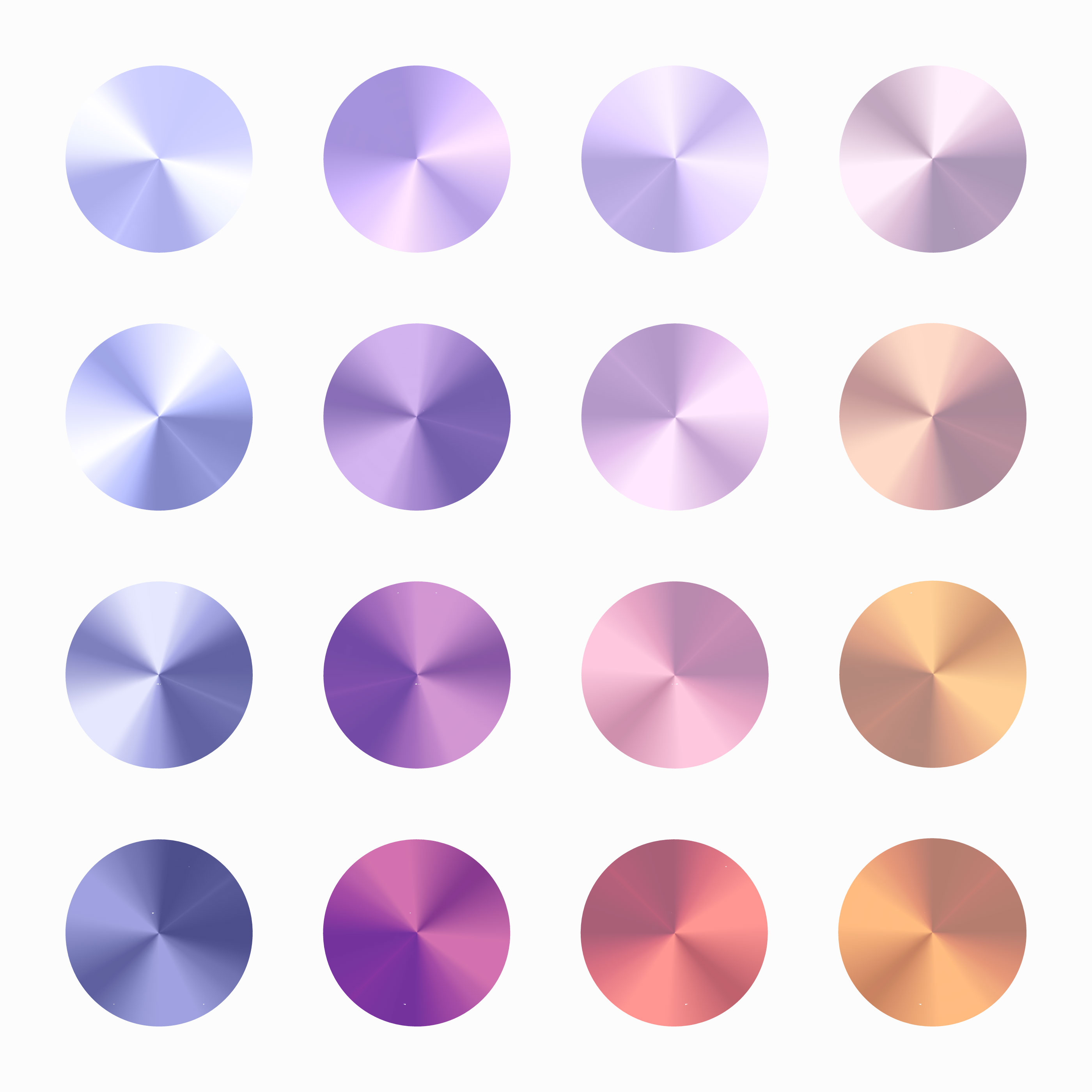 Soft Color Conical Gradient Vector Set