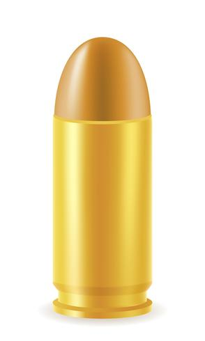cartouche de balle avec une illustration vectorielle balle
