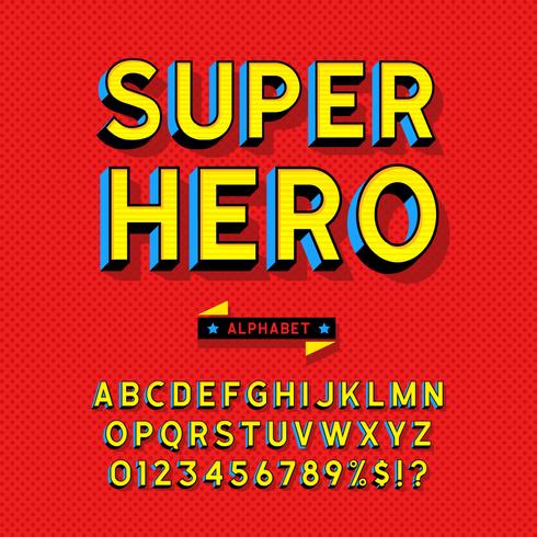 Comic-Stil Alphabet Vektor festgelegt