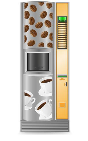 vending coffee is a machine vector illustration
