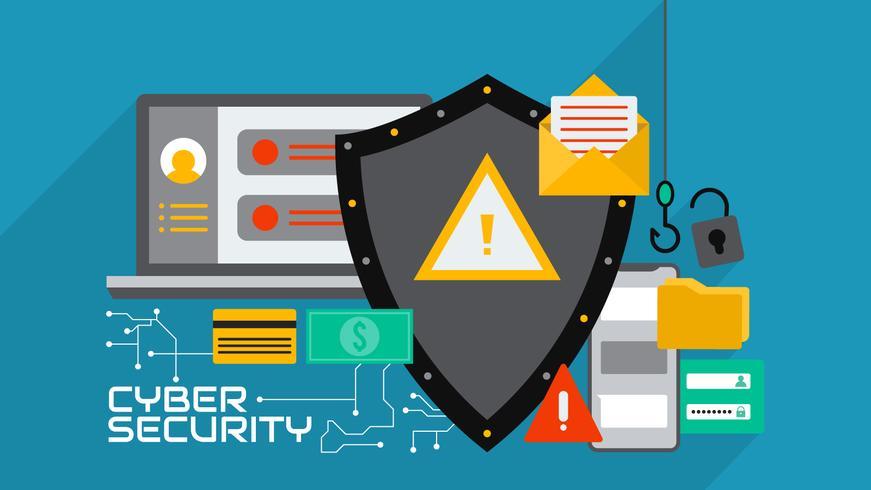 Vecteur de cyber sécurité incroyable