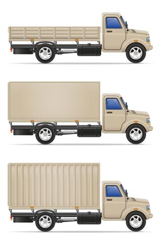 cargo truck for transportation of goods vector illustration