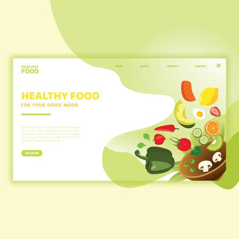 Healthy Food Landing Page Template Download Free Vectors Clipart Graphics Vector Art