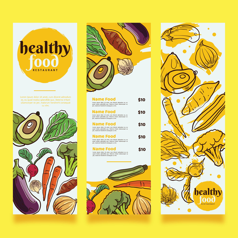 Hand Drawn Organic Food Label Set