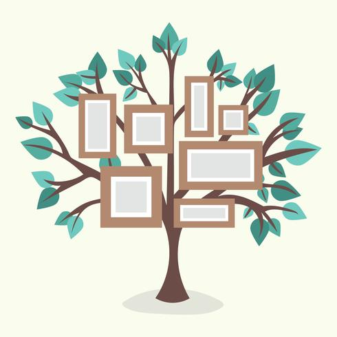 Flat Family Tree With Frames
