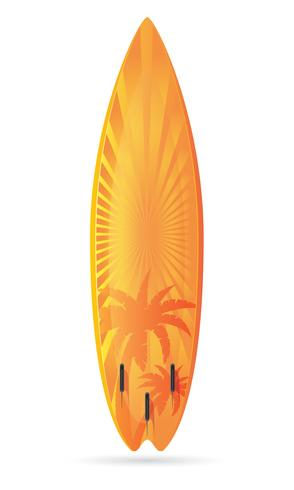 tavola da surf con un paesaggio illustrazione vettoriale