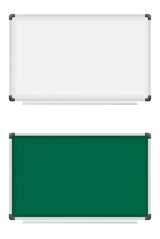 plastic school board for writing marker and chalk vector illustration