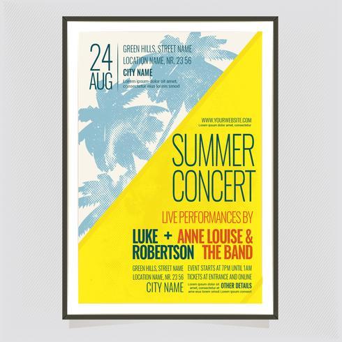 Cartaz de concerto de verão vetor