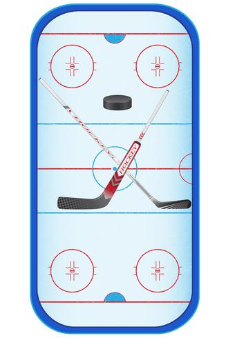 illustrazione vettoriale stadio di hockey