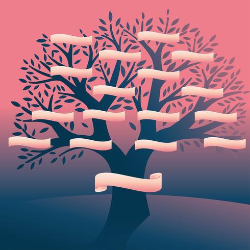 Vetor de modelo de nome de árvore genealógica
