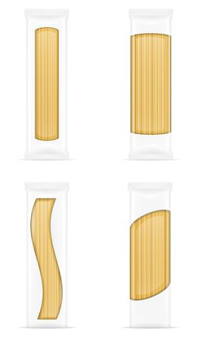 pasta in packaging vector illustration