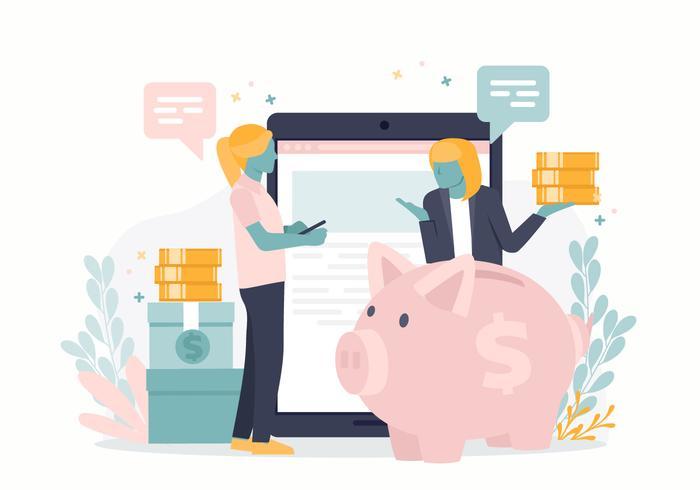 Vector dinheiro salvando ilustração