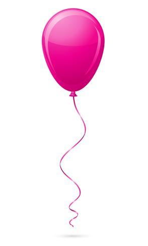 globo rosa ilustración vectorial