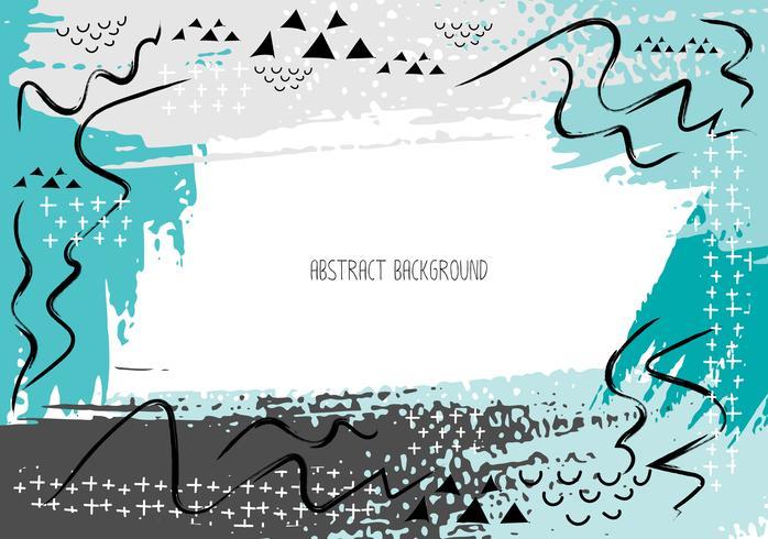 Carte creative artistico con i colpi della spazzola, fondo astratto del colpo della spazzola, illustrazione di vettore.