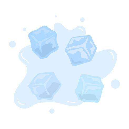 Collection de clipart Vector Ice Cube