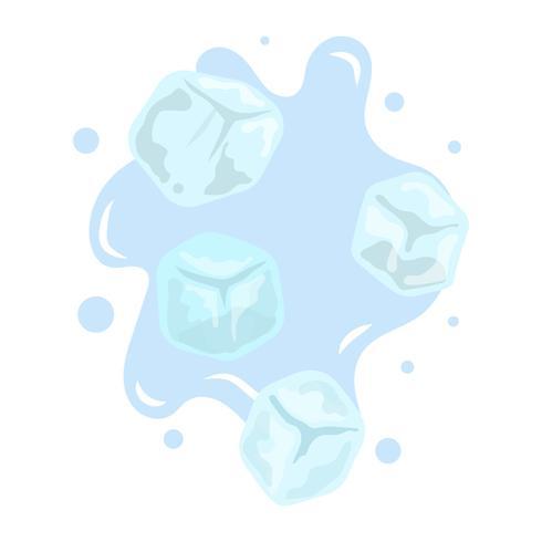 Colección de imágenes prediseñadas vector plano simple cubo de hielo