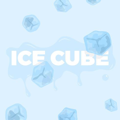 Clipart vectoriel de cube de glace avec la collection de textes