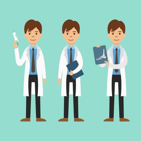 Doutor, vetorial, ilustração vetor