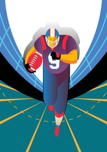 American Football-Spieler Illustration