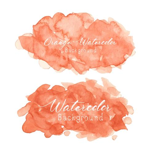 Fondo de acuarela abstracta naranja. Ilustracion vectorial