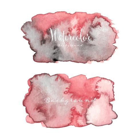 Fondo abstracto de la acuarela. Elemento acuarela para tarjeta. Ilustracion vectorial