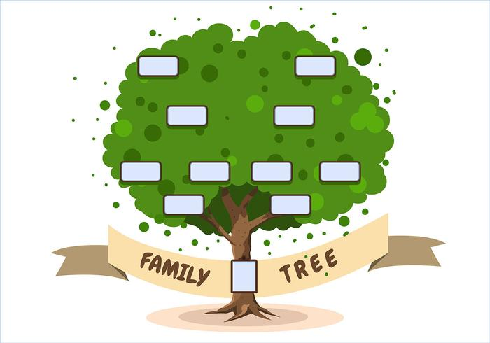 Family Tree Template on White Background