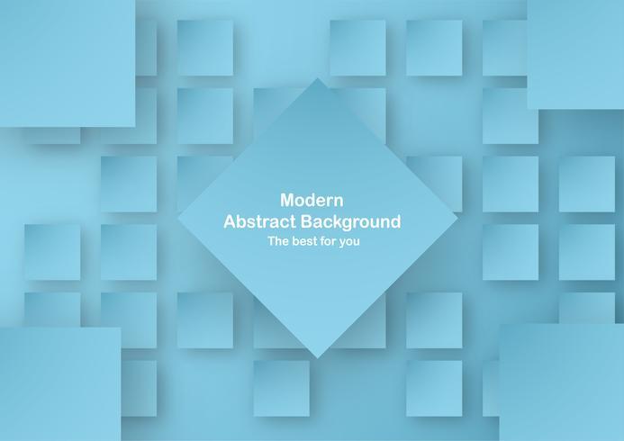 Abstracte blauwe achtergrond in vierkante vorm met pastelkleur. Sjabloon voor bedrijfspresentatie, dekking. Nieuwe trend van vector illustratie met 3D-stijl.