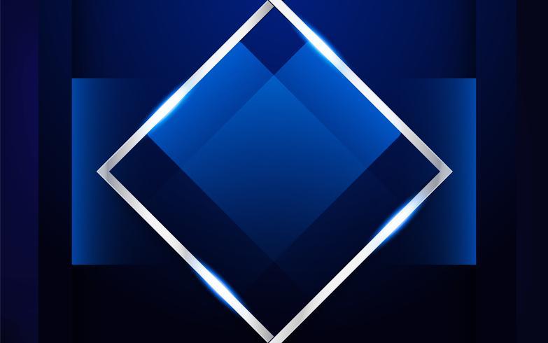 Astratto sfondo blu in stile indiano premium. Template design per copertina, presentazione aziendale, banner web, invito a nozze e packaging di lusso. Illustrazione vettoriale con bordo dorato.