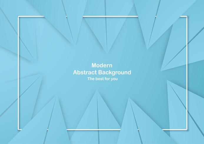 Astratto sfondo blu con colori pastello. Modello per presentazione aziendale, copertina, invito, poster, pubblicità, banner. Nuova tendenza della progettazione dell'illustrazione di vettore nel taglio della carta 3D.