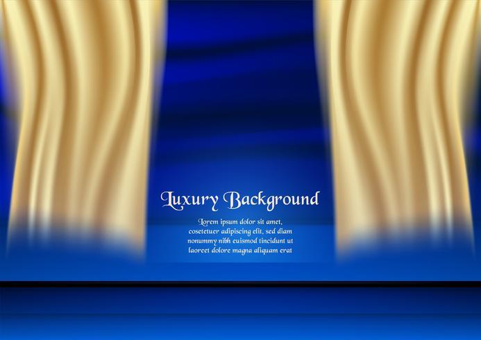 Fundo azul abstrato no conceito superior com cor do ouro. Modelo de design para capa, apresentação de negócios, banner web, convite de casamento e embalagens de luxo. vetor