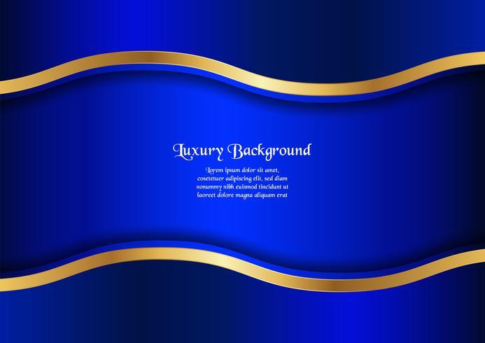 Fundo azul abstrato no conceito superior com espaço da cópia. Projeto do molde para a tampa, a apresentação do negócio, a bandeira da Web e o empacotamento. vetor