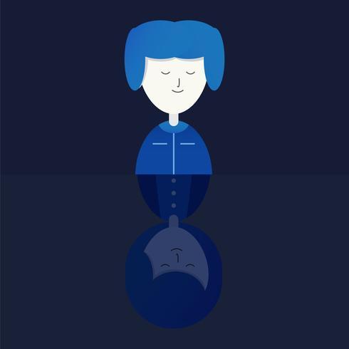 Personagem de amor casal. Vector design em estilo plano gradiente isolado em fundo azul escuro.
