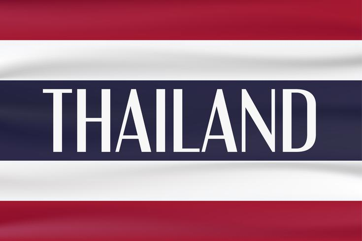 Nieuwe typevlag van het land van Thailand met rode, blauwe en witte kleur.