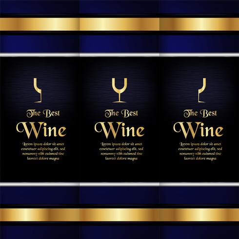Luxury packaging template in modern style for wine cover, beer box. Vector illustration in premium concept. EPS 10.
