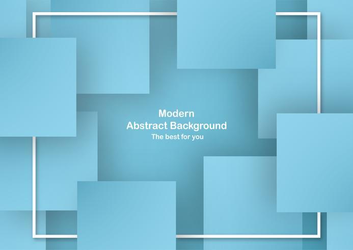 Astratto sfondo blu a forma quadrata con colori pastello. Modello per presentazione aziendale, copertina. Nuova tendenza di illustrazione vettoriale con stile 3D.