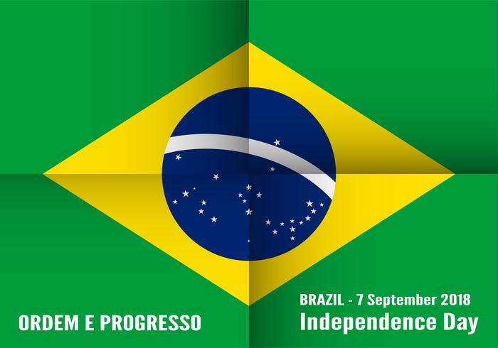 Ilustração vetorial para o dia da independência de Brasil em 7 de setembro para o fundo comemorado. Em português chama-se 'Dia da Independência'.
